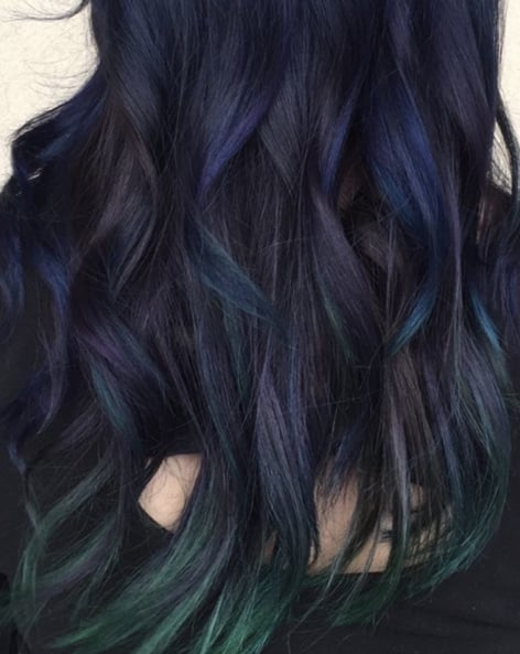Peacock Hair Color Trend POPSUGAR Beauty Photo - Peacock hairstyle color