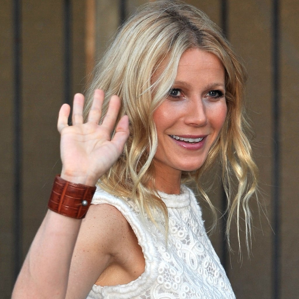 Gwyneth Paltrow in White Pants and Tank Pictures
