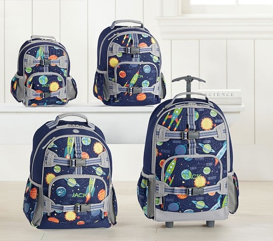Mackenzie Navy Solar System Glow-in-the-Dark Backpacks