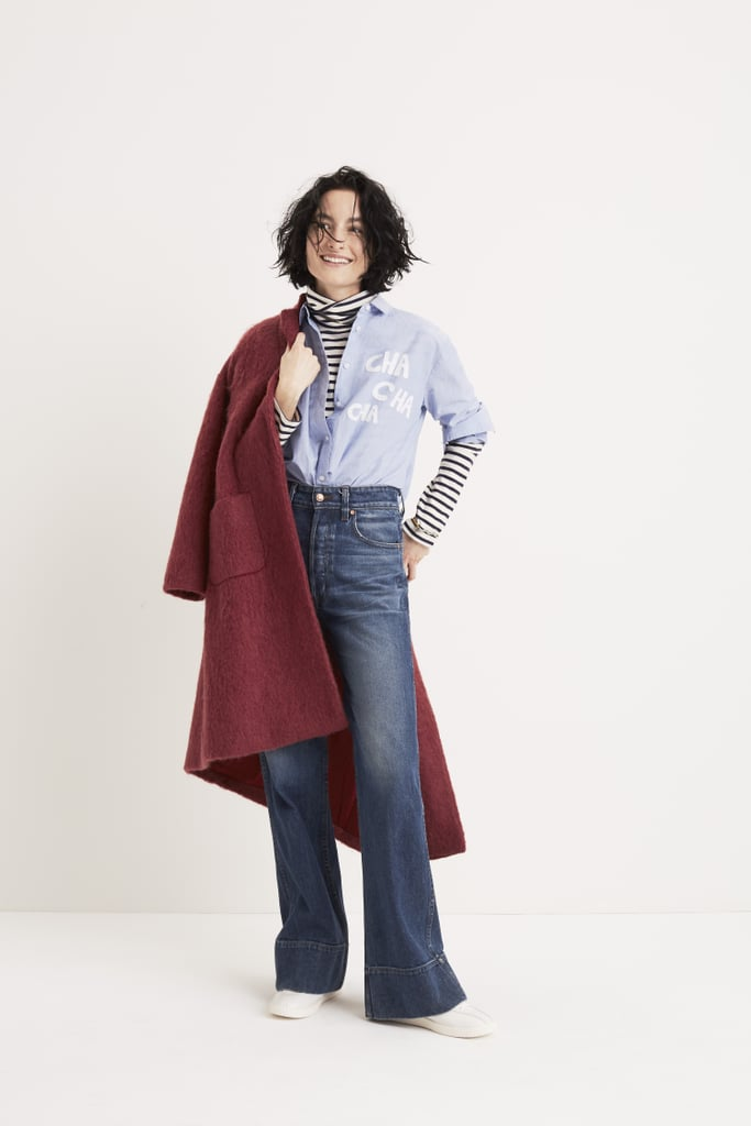 Diane Keaton would likely approve of this timeless layered look.