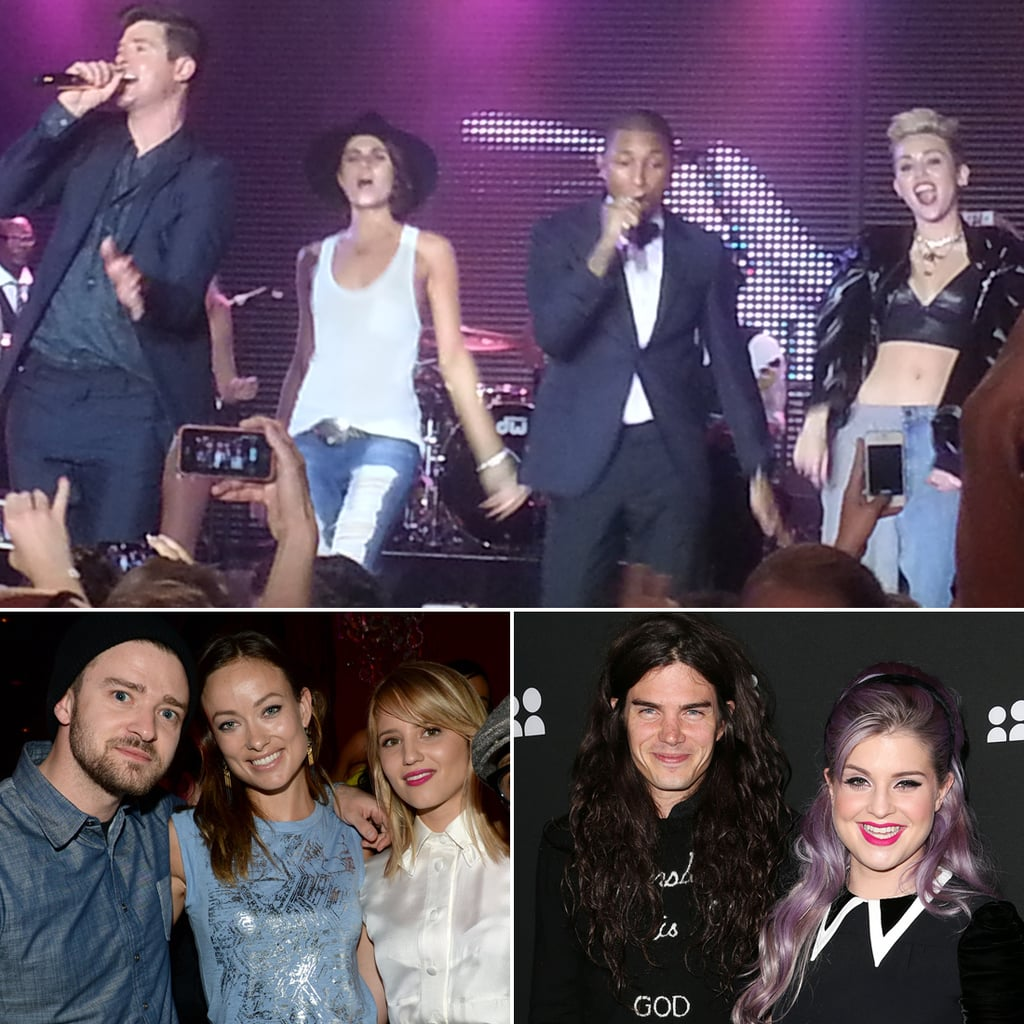 Miley Cyrus and Justin Timberlake at the New MySpace Launch