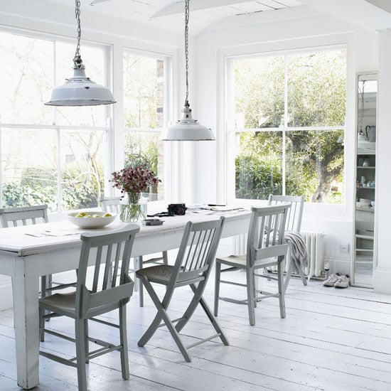White Dining Room Table: 10 Fabulous Mismatched Tables And Chairs