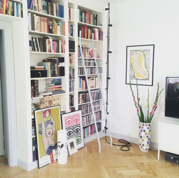 They're done! Ikea Billy bookshelves