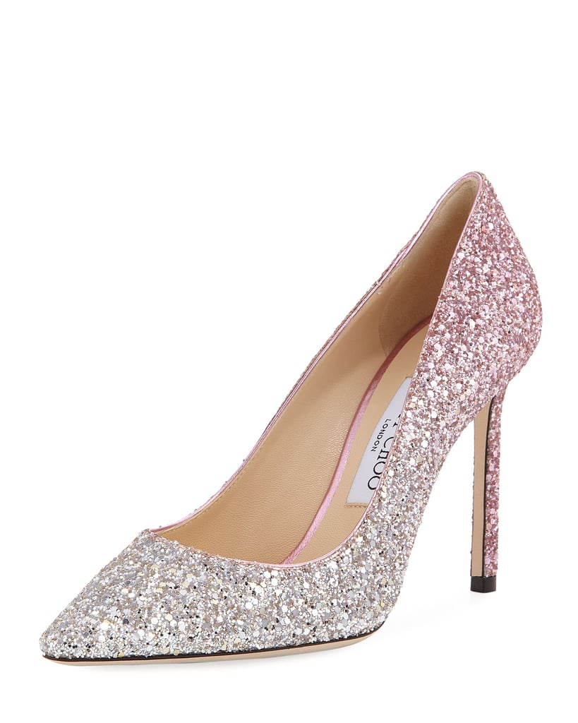 ad313bf6ae0 Jimmy Choo Romy Degrade Glitter 100mm Pump