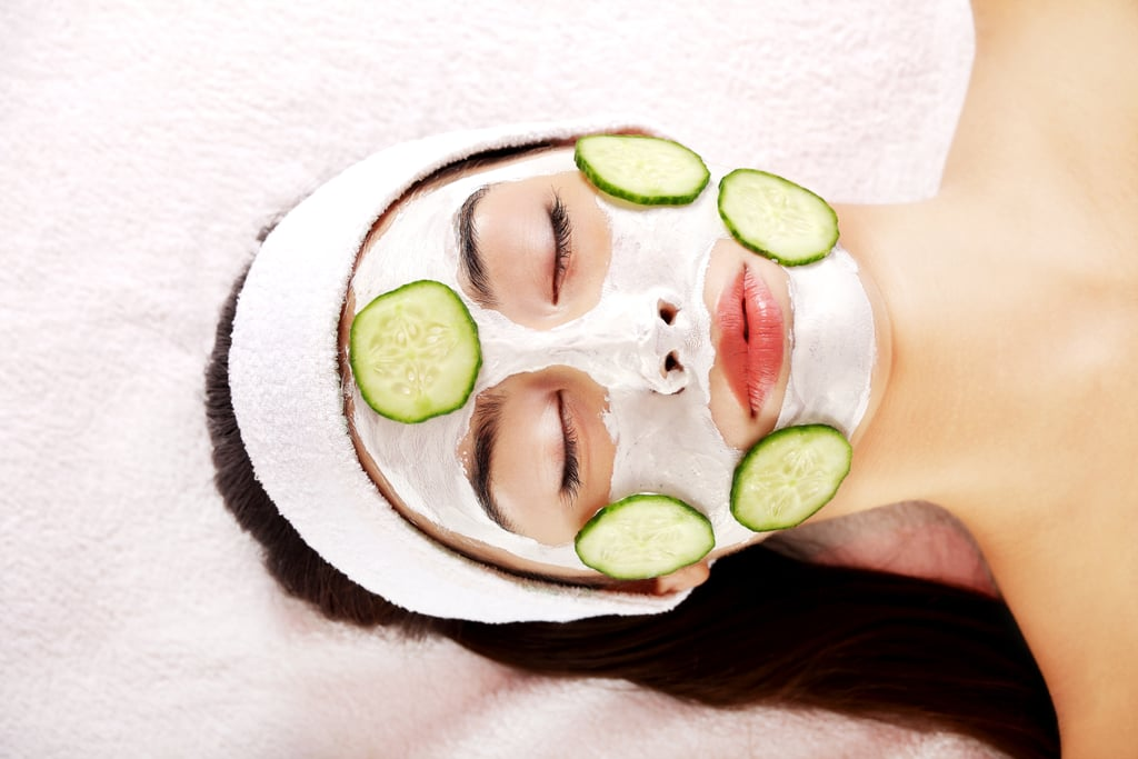 Bask in a facial mask