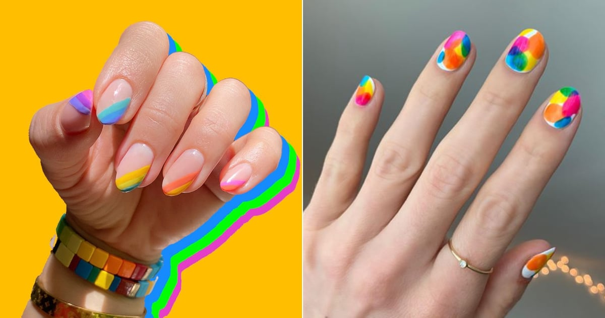 Show Your Pride With These 24 Colorful (but Simple) Nail Art Ideas.jpg
