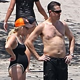 Pregnant Reese Witherspoon wore a swimsuit with shirtless Jim Toth.
