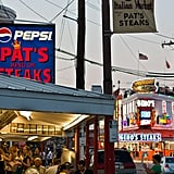 "While the debate on where to find the city's best cheesesteak may never end, you won't be disappointed with Pat's King of Steaks. Located at the corner of South 9th Street and Passyunk Avenue, this self-proclaimed ""inventor of cheesesteak"" is quite the fan favorite. But if you happen to still be hungry after this gastronomical experience, head right down the street to its rival Geno's Steak for another go!"