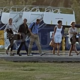 Pippa Middleton, James Middleton, Kate Middleton, and Prince William left in St. Lucia after a stay in Mustique.