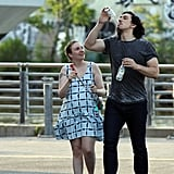 Lena Dunham and Adam Driver Filming Girls July 2016