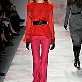 Prabal Gurung was one of several designers to feature red with pink for Fall 2011.