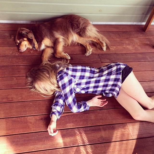 Amanda Seyfried was twins with her dog, Finn. Source: Instagram user mingey