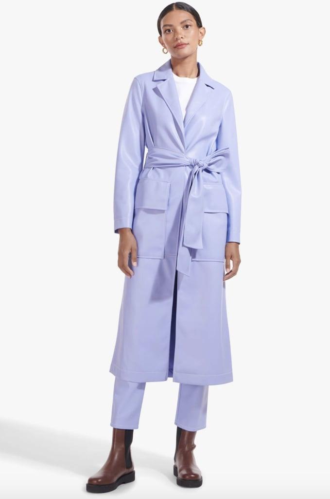 Staud Vegan Leather Ashley Coat