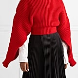 A.W.A.K.E. Cropped Oversize Wool Turtleneck Sweater