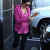 Jenna Dewan wore bright pink for an LA outing.