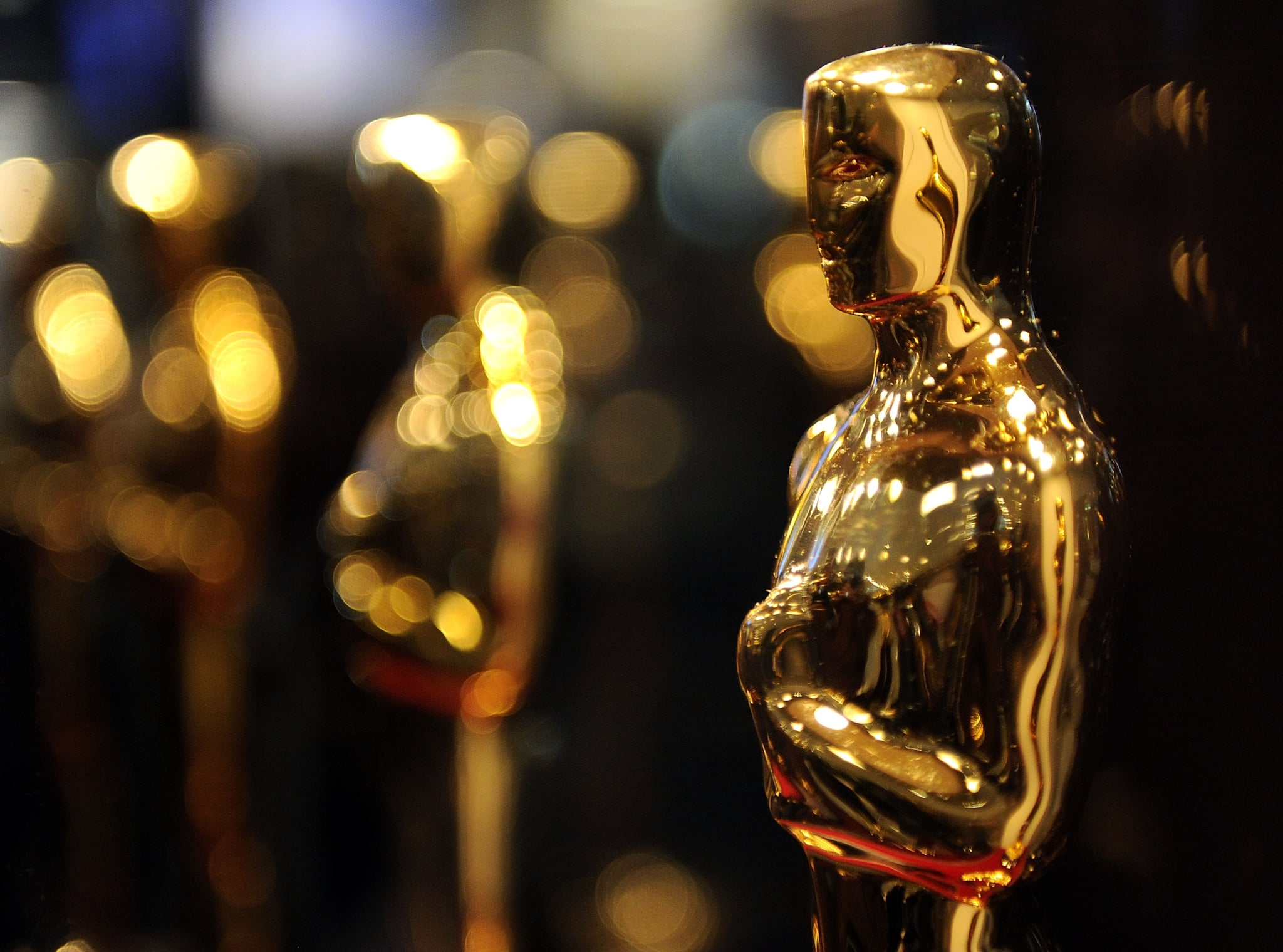 NEW YORK - FEBRUARY 25:  Overview of Oscar statues on display at