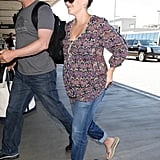 Reese Witherspoon looked cute and casual as she prepared to travel.