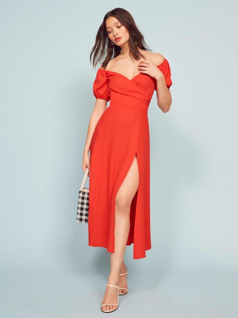 Reformation Pearl Dress Best Romantic Dresses Popsugar