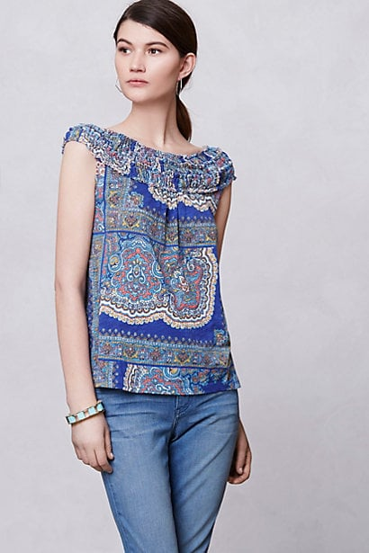 Pop this Anthropologie Smocked Tank ($48) into your weekender bag along with a Panama hat and gladiator sandals.