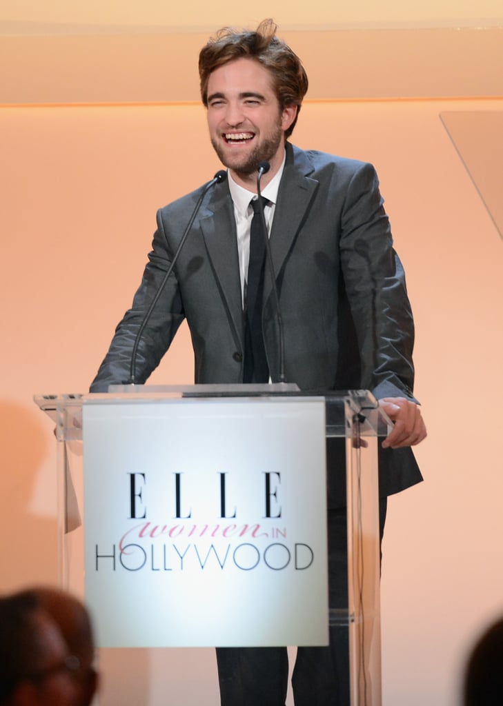 Robert Pattinson was on stage at the Elle Women in Hollywood Awards.