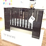 Nurseryworks' Vetro plexiglass crib will now be available in a darker color.