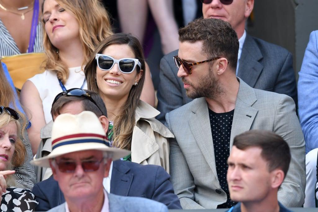 Justin Timberlake and Jessica Biel at Wimbledon July 2018