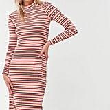 UO Corinne Striped Knit Midi Dress