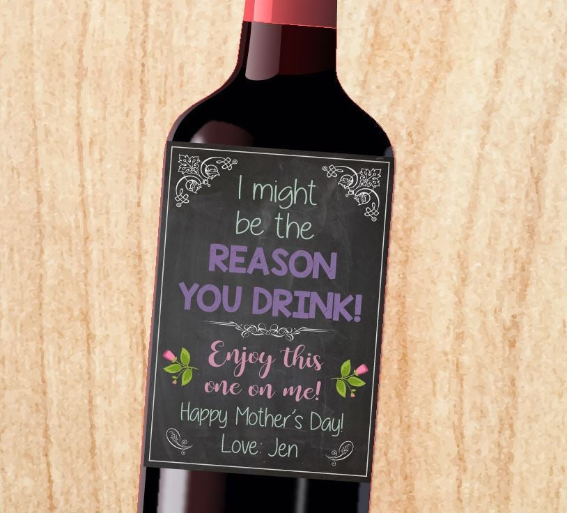 The Reason Why You Drink Wine Label