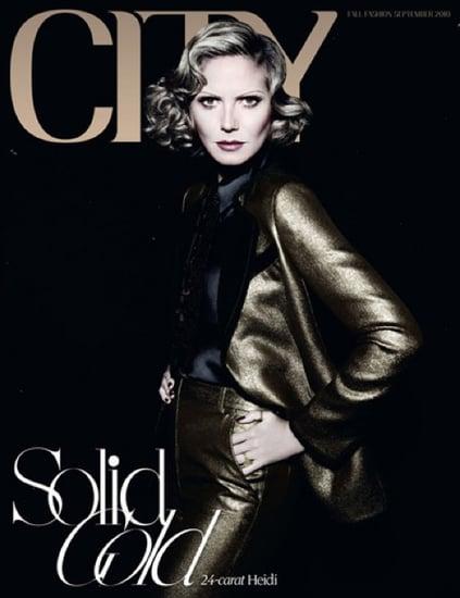 Heidi Klum covers City magazine As Marlene Dietrich-