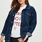 Missguided Curve Blue Distressed Denim Jacket
