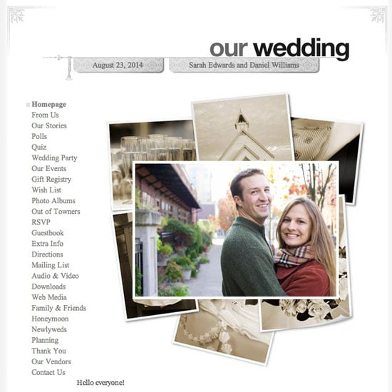 Why you need a wedding website popsugar tech here 7 reasons why you need a wedding website and what your site should include to be at maximum benefit for your guests junglespirit Images