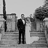Bride Wearing J. Andreatta Wedding Dress