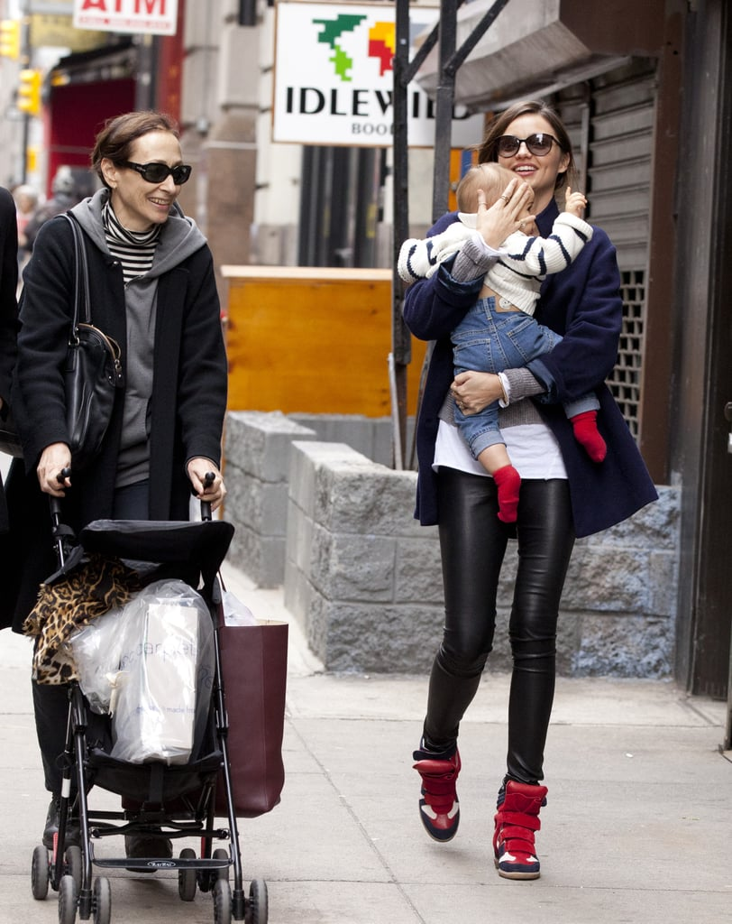 Adding Isabel Marant kicks to a pair of leather leggings makes this an undeniably cool bit of street style.
