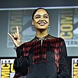 Pictured: Tessa Thompson at San Diego Comic-Con.