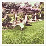 Harlow Madden took to the yard to find some eggs on Easter morning. Source: Instagram user nicolerichie
