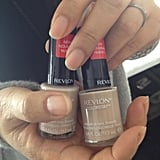 Manicurist Jin Soon Choi used two coats of Revlon Trade Winds for a classic neutral finish. According to Choi, the trend for Fall is nude polish that matches the skin tone. If you have a darker complexion, then she recommends selecting a sheer hue instead of opaque.