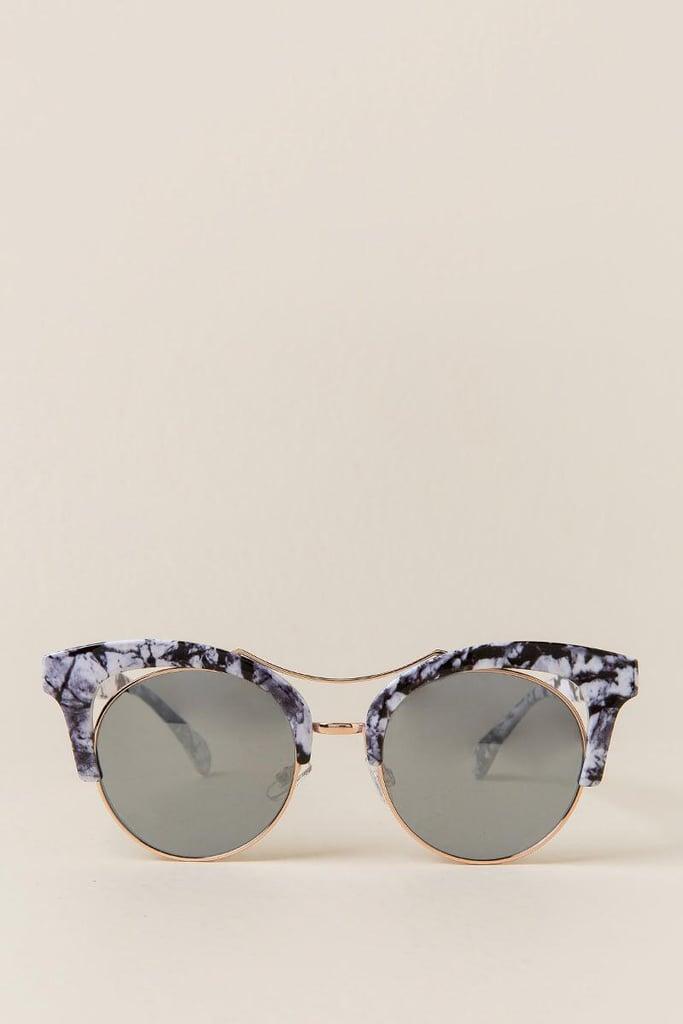 Drea Marble Sunglasses