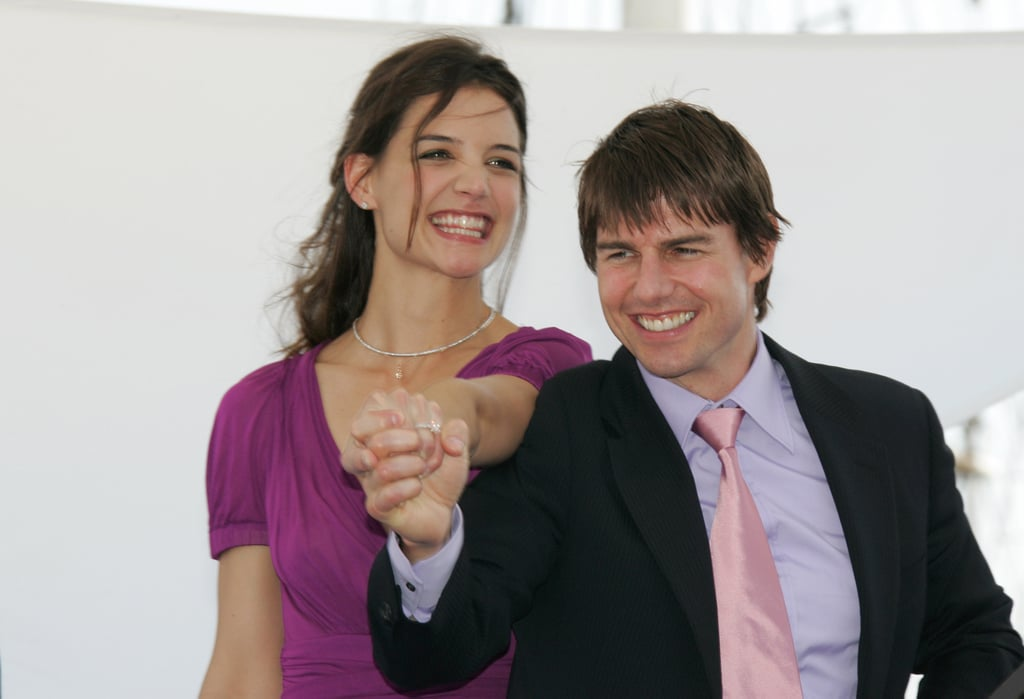 Katie Holmes and Tom Cruise showed off her new engagement ...