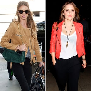 Rosie Huntington-Whiteley Tan Leather Jacket