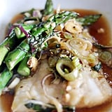 Cod and Asparagus Cooked in Parchment Paper