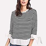 Shein Contrast Curved Tee