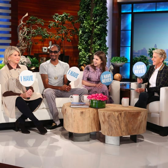 Martha Stewart, Snoop Dogg, Anna Kendrick on Ellen Oct. 2016