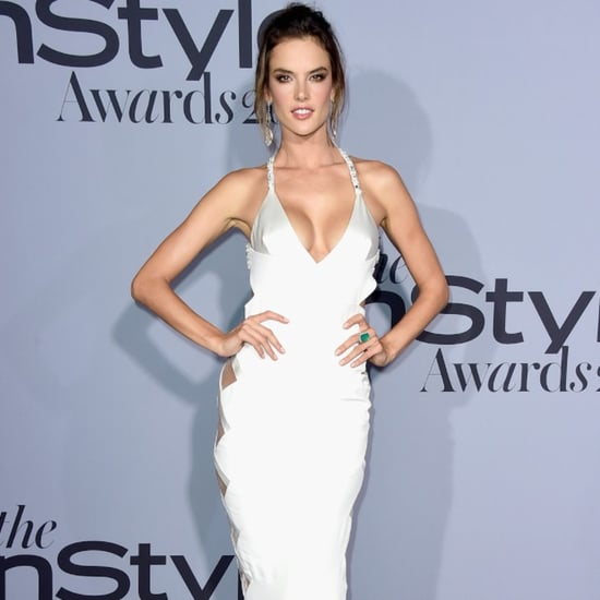 Alessandra Ambrosio in Cutout Dress at 2015 InStyle Awards
