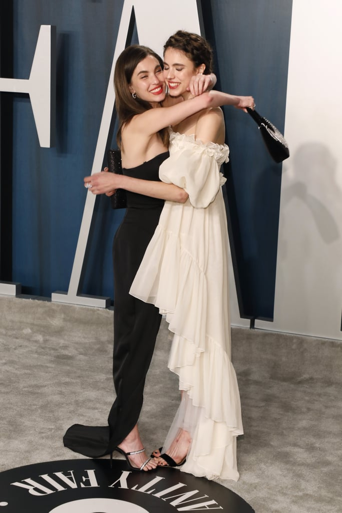 """In Love in the Time of Corona, we got to see Rainey Qualley and Tommy Dorfman play best friends, but in real life, Rainey considers her sister, actress Margaret Qualley, her """"best friend"""" and """"the most inspiring, beautiful, talented, [and] fiercely smart person"""" she knows. Over the years, the pair has had their fair share of red carpet appearances alongside their mom Andie MacDowell, but as they've gotten older, they've become stars in their own right: Margaret with Once Upon a Time in Hollywood and Rainey releasing music as Rainsford. They also make sure to frequently show support for one another, as Rainey often posts about her sister on Instagram and Margaret once acted as craft services during an intimate music video shoot for Rainey's song """"Crying in the Mirror."""" You can see some of the sisters' sweetest snaps ahead."""