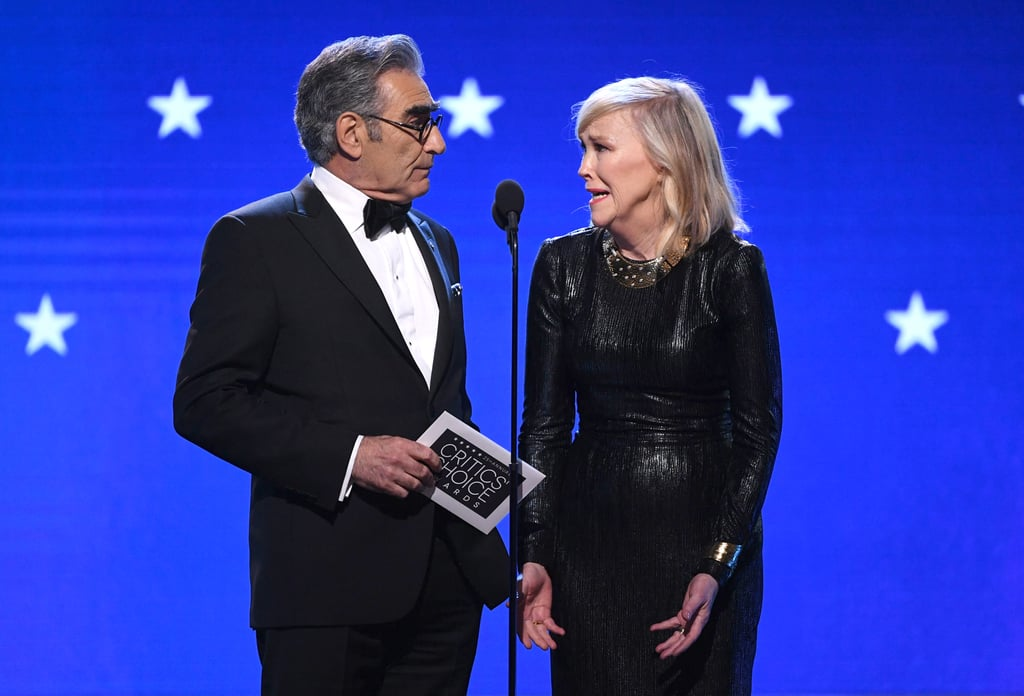 Eugene Levy and Catherine O'Hara at the 2020 Critics' Choice Awards