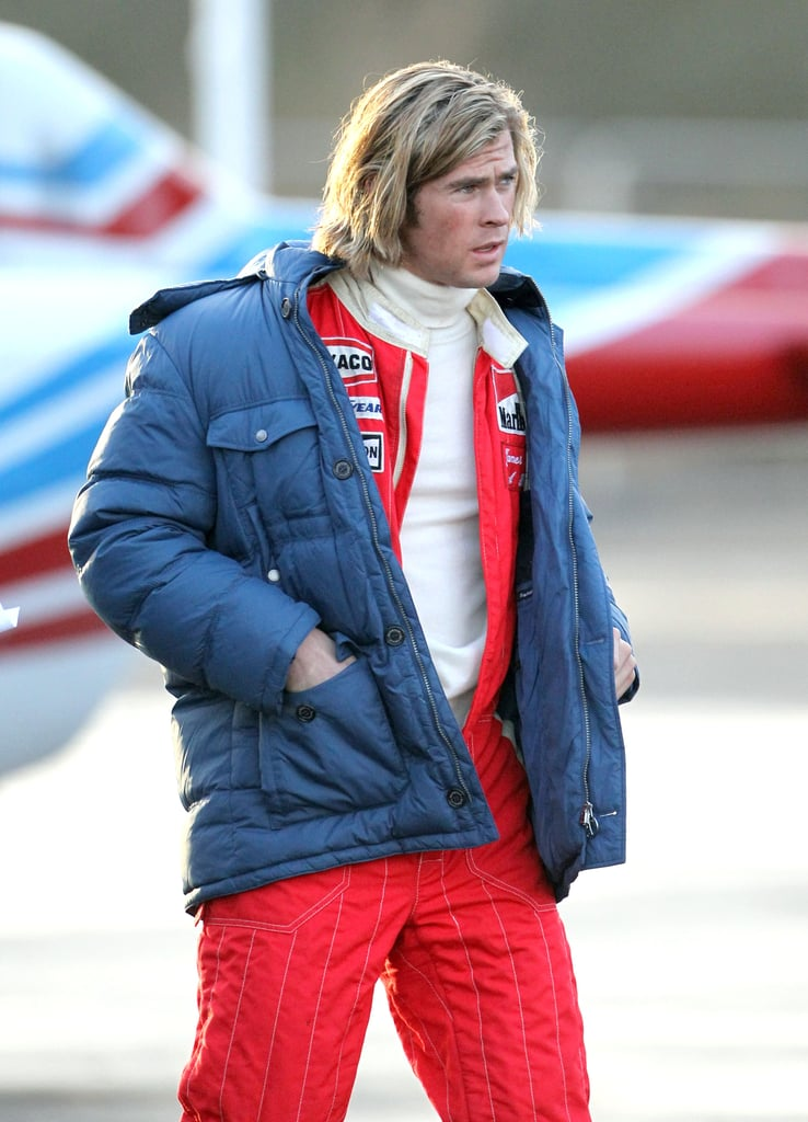 Chris Hemsworth wore a red jumpsuit.