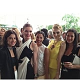 A collection of it-girls: Leandra Medine, Hilary Rhoda, Hannah Bronfman, and Jessica Stam — all with Rebecca Minkoff.  Source: Instagram user RebeccaMinkoff
