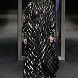 She Also Modeled This Ornate Chiffon Gown at Alberta Ferretti