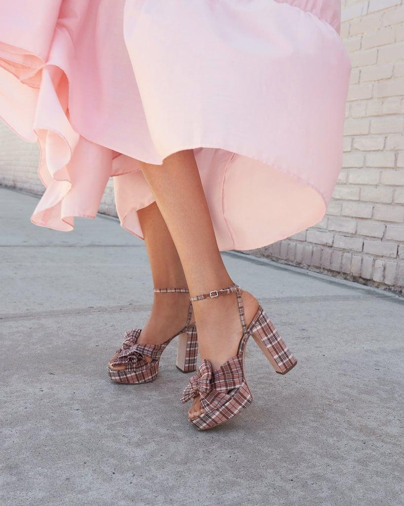 Statment Shoes: Loeffler Randall Natalia Plaid Platform Bow Heel