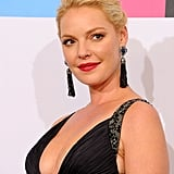 Katherine Heigl in a  black dress.